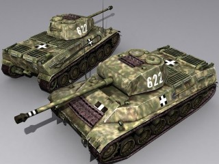 44 Tas tank model in de Battlefield 1942 mod: Hungarian Front