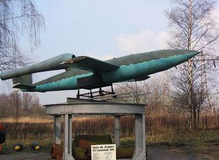 Model van een V1 Bom