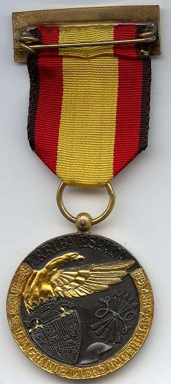 Spaanse Campagne medaille - Achterkant