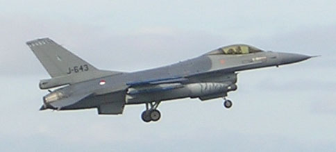 F16 Fighting Falcon te Leeuwarden