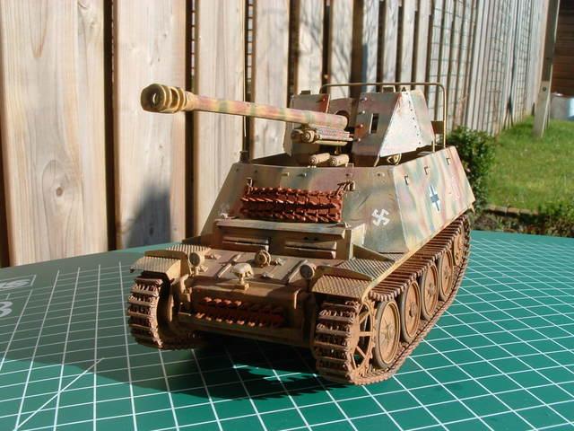 Voorkant Marder II ausf. D/E tank destroyer. Modelbouw door Eric de Graaf.