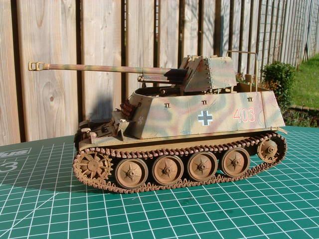 Marder II ausf. D/E tank destroyer. Modelbouw door Eric de Graaf.
